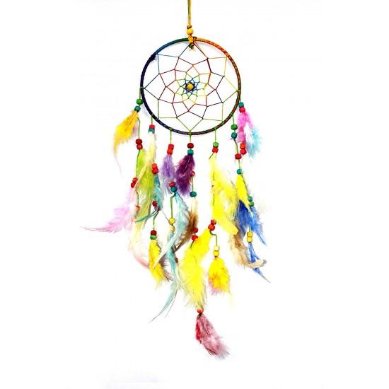 Multicolored Dream Catcher Wall Hanging - Attract Positive Dreams