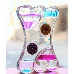 Lilone Gifts Wheel Droplet Timer Hourglass Double Heart Shape Paper Weight