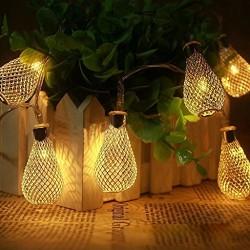 AtneP Metal Fancy 20 LED Yellow Drop String Series Lights (LADI) (Warm White)