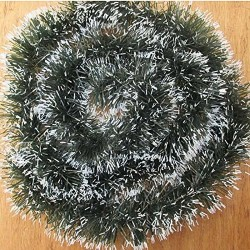 10x Garland Ribbon Christmas Decoration String (6 Ft,Green:white)