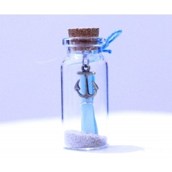 1x Lilone Valentine Gifts Little Message Bottle Seashell Decoration 4cm Tall