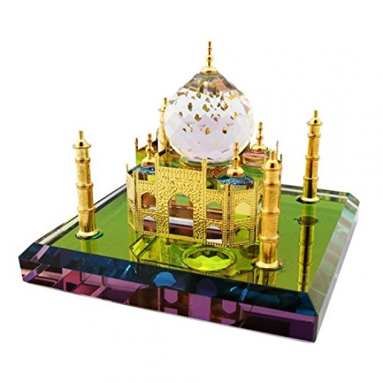 Crystal Taj Mahal Showpiece Home Decorative Miniature