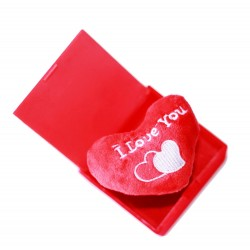 Surprise Box Pop-Up Heart With Music - I Love You (When Open), Square Shape - Red