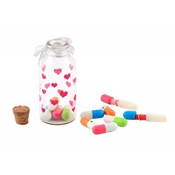 Capsule Message In A Bottle - 12X Color Pills
