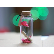 Valentine Gifts Rose Little Message Bottle (4 cm)