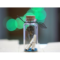 Lilone Tree Design Little Message Bottle (4 cm)