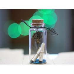Lilone Tree Design Little Message Bottle (4 cm)