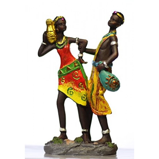 Lilone African Trible Music Couple Showpiece