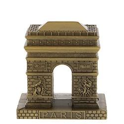 Lilone Antique Arc de Triumphal Paris Metal Statue Table Showpiece