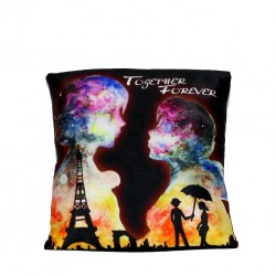 Lilone Eiffel Tower Design Together Forever Pillow | Gift Pillows