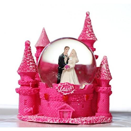 Lilone Glass Resin Showpiece Figurine (Pink_3 X 4 Inch)