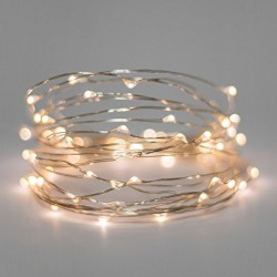 AtneP 3M 30LEDs USB Sliver String Copper LED Lights Warm White Decorative Fairy Lights