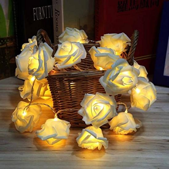 20 Led Warm White Rose Led String Lights For Decoration