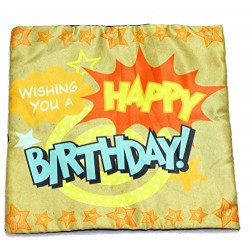 Lilone Birthday Special Quoted Cotton Decorative Star Printed Pillow Gift