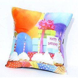 Lilone Birthday Special Quoted Cotton Decorative Cup Cake Printed Pillow Gift