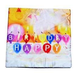 Lilone Birthday Special Quoted Cotton Candle Decorative Printed Pillow Gift