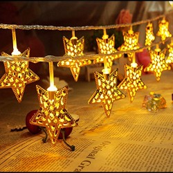 AtneP Metal 4 Meter Long Star Led Fairy Lights
