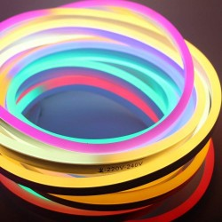 AtneP Plastic Neon Flex Flexible Frosted Ceiling Light