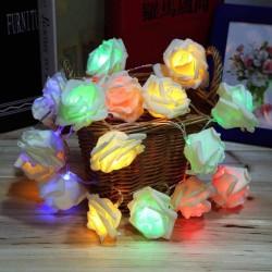 AtneP 20 LED Multi Color Rose String Lights