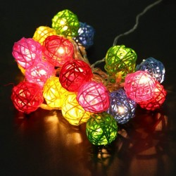 16LED Rattan Color Balls String Lights