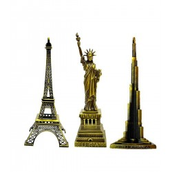 Lilone Gifting Special Combo Of Paris Eiffel Tower , Statue Of Liberty,Burj Khalifa