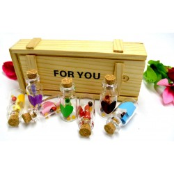 Lilone 7 PCs Message Bottle Set