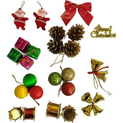 Lilone Christmas Tree Decoration Ornaments (74PCs Xmas Decoration)
