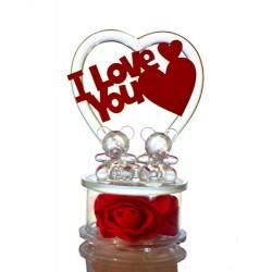 Lilone Beautiful Crystal Couple Teddy Showpiece Valentine Gift