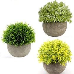 Lilone Mini Pot Benn Grass Artificial Plants (Set of 3)
