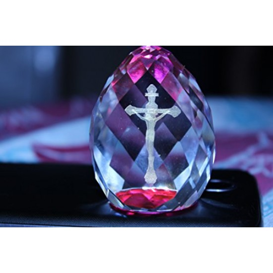 Lilone Gifts 3D Cross Crystal Cube Diamond Shape