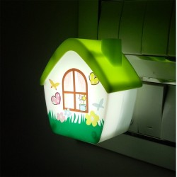 Lilone Creative Bright LED Energy Saving House Pattern Night Lamp