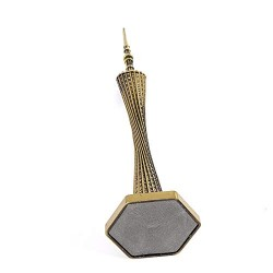 Lilone Canton Tower Statue Showpiece for Home Decor and Occasion Gifting (5 Inch) | 2 Parts Assembled