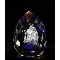 Lilone Crystal Diamond Radhakrishna Statue Showpiece