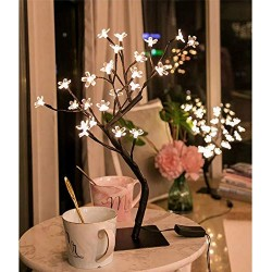 AtneP Lights 24 LED Tree for Diwali Christmas Home Decoration Festival Decor Lights 14x5 Inches Warm White