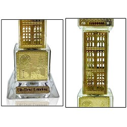 Lilone Crystal Gold Plated Big Ben Showpiece 5 Inch with Light
