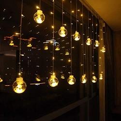 AtneP 108 LED Bulb Shape Globe LED Curtain Lights
