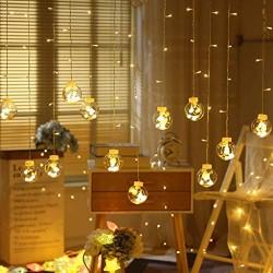 AtneP Globe 108LED Wishing Ball Curtain Light Fairy String Rice Lights with 8 Flash Modes