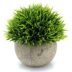 Lilone Artificial Plants Benn Grass in Pot for Home Decor (Green)