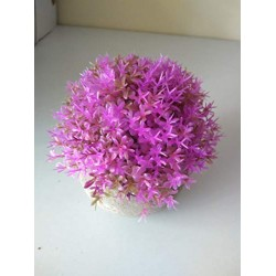 Lilone Artificial Plants with Flowers Benn Grass in Pot