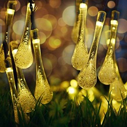 AtneP 20 LED Crystal Drop Lights for Home Decoration